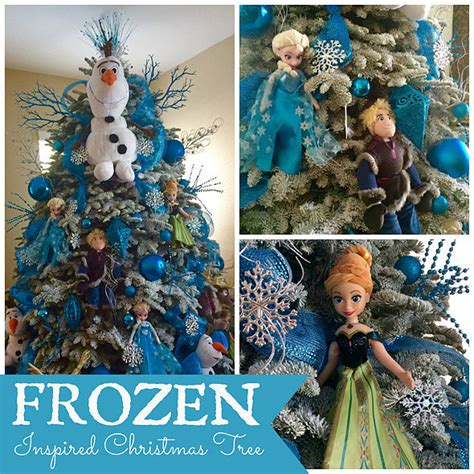 frozen inspired christmas tree popsugar moms
