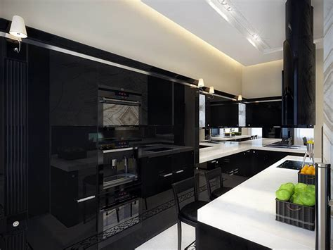 Black And White Countertops by White Kitchen Cabinets With Black Countertops Decosee