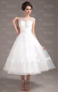Cheap ball gown princess beach tea length wedding dress hsnal0521