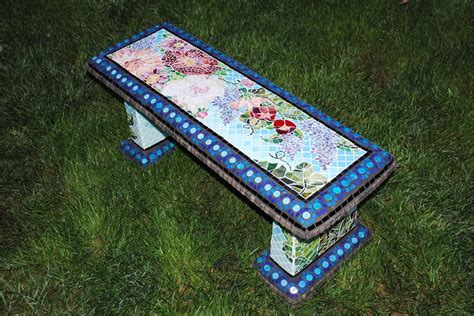 mosaic garden bench mosaic garden benches beads pieces