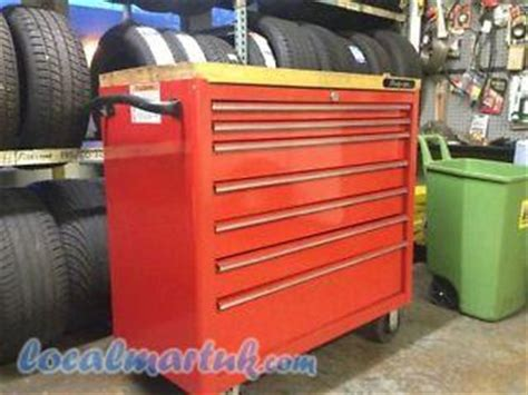snap on work bench 40 quot snap on toolbox roll cab wood top workbench central milton keynes