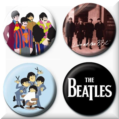 The Beatles 5 the beatles pins official merchandise 2017 18