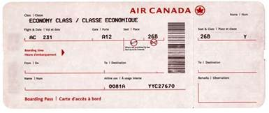 flight booking template air canada boarding pass is in the air