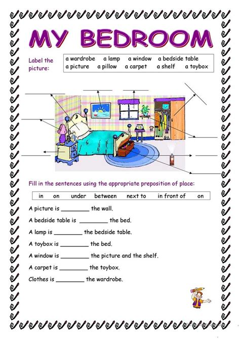 describe your bedroom 74 free esl bedroom worksheets