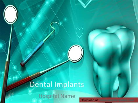 Dental Implants Powerpoint Template Dental Powerpoint Templates Free