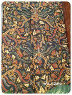 Kain Batik Murah Batik Sogan Cabut Sinaran dress parang kembang cirebon