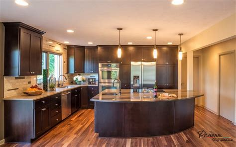 large kitchen island home design