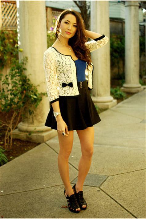 forever 21 cardigans black romwe skirts blue tops