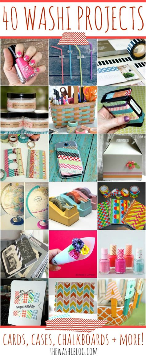 washi tape craft ideas the washi blog 40 washi tape projects a night owl blog