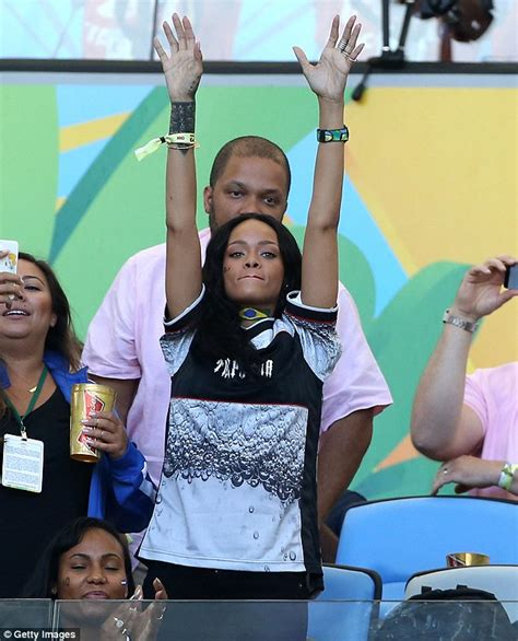 Osbourne Flashed At World Cup rihanna with world cup winning team germany as