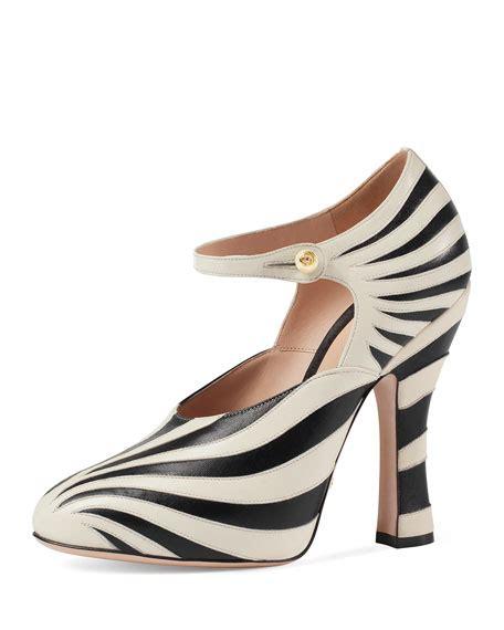 zebra shoes gucci lesley zebra inlay black white