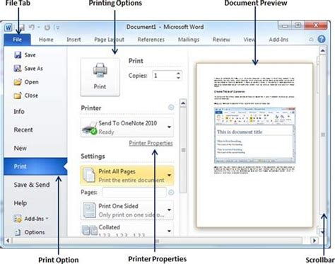 Get Documents Printed printing documents in word 2010