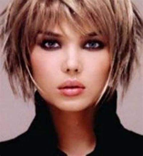 can round faces have a shaggy bob hairstyle short hairstyles with bangs for fine layered pixie hair