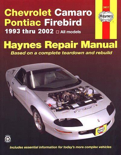pontiac firebird haynes repair manual trans am gta base formula se s e shop nq ebay camaro z28 firebird trans am repair manual 93 02 haynes