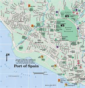 caribbean on line tobago maps port of spain