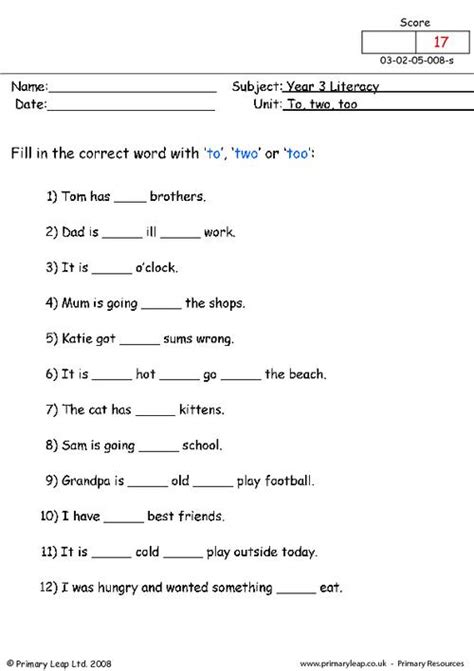 to two worksheets primaryleap co uk to two and worksheet