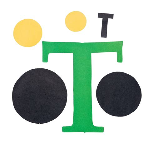 t is for tractors letter t craft kit oriental trading
