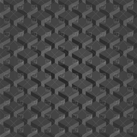 dark gray isometric pattern  cubes vector image vector