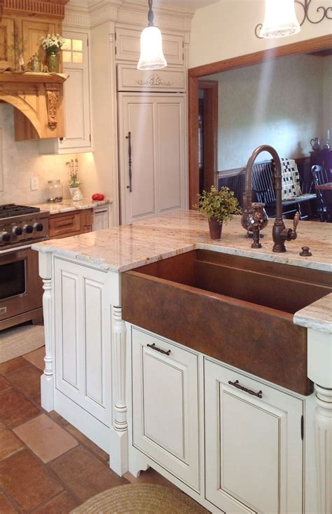 kitchens with copper sinks best 25 copper sinks ideas on