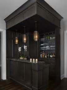 Inspiration for a transitional galley wet bar remodel with open