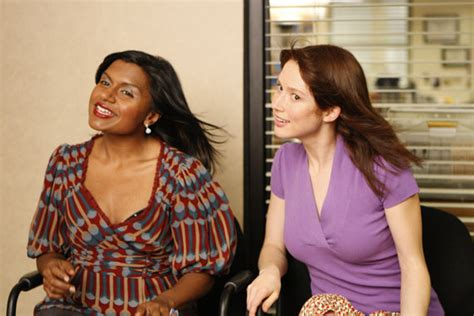 mindy kaling ellie kemper mindy kaling s quot the office quot throwback with ellie kemper is