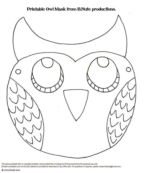 woodland animal mask templates sletemplatess
