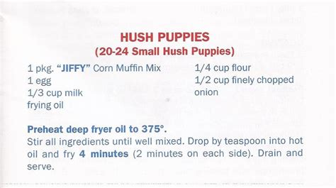recipe for hush puppies with jiffy mix jiffy mix hush puppies recipes