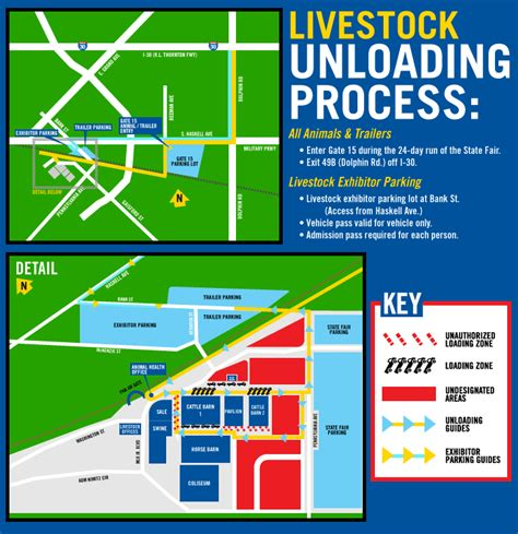 state fair of texas parking map exhibitor information state fair of texas