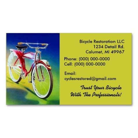 Bike Business Card Template by 1000 Images About Bicycle Business Cards On