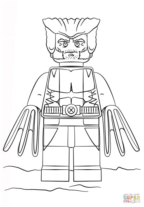 printable coloring pages lego lego wolverine coloring page free printable coloring pages