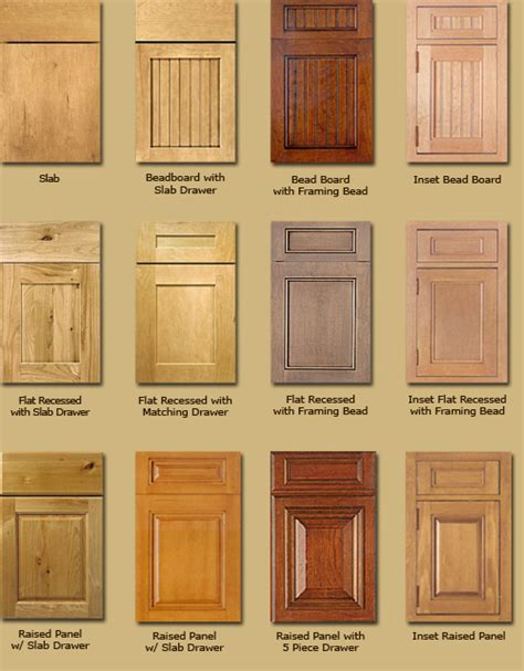 kitchen cabinet door types types kitchen cabinets