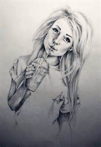 Cute draw drawing girl long hair pretty sketch sketched