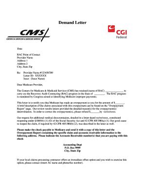 Demand Letter Medicare Demand Letters From Medicare Fill Printable Fillable Blank Pdffiller