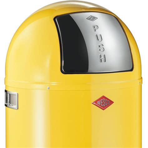 designer kitchen bins wesco pushboy bin lemon yellow designer kitchen bin
