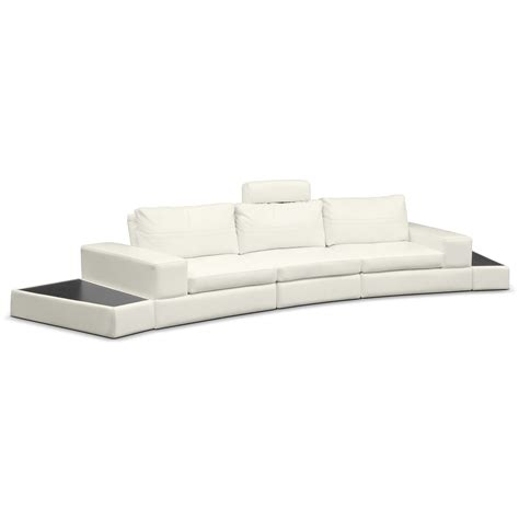 value city furniture leather sectional epic leather 5 pc sectional value city from