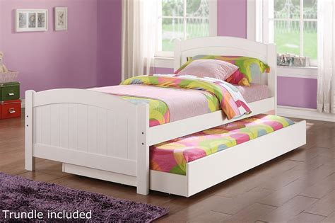 beds twin size poundex f9218 white twin size wood bed steal a sofa