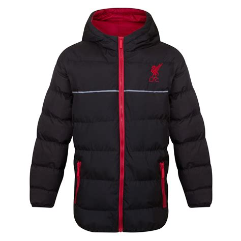 liverpool fc official football gift boys quilted hooded winter jacket ebay
