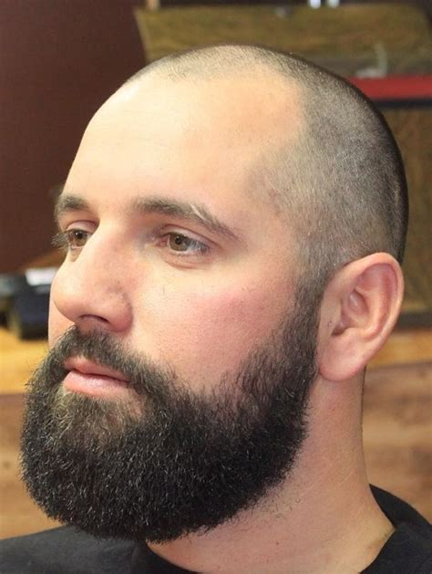 shaved head to hide graying hair shaved head with beard 65 beard styles for bald men