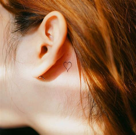 heart tattoo behind ear 60 incredibly tiny designs tattooblend
