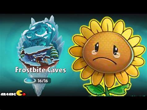 no sun plants plants vs zombies 2 frostbite caves no sun flower