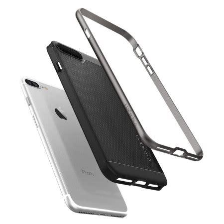 Spigen Iphone 7 Plus Hybrid Armor Casing Gun Metal spigen neo hybrid iphone 7 plus gun metal