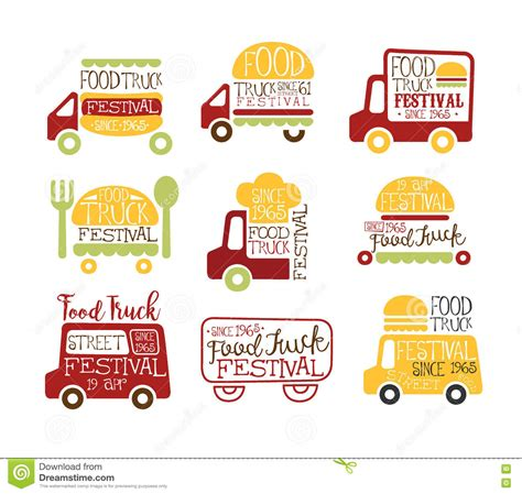 food truck design app food truck cafe street food promo signs collection of