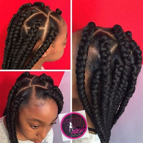 25 best ideas about jumbo box braids on - Braided Hairstyles For Ages 4 6