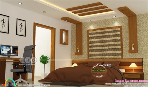 Kitchen Bedroom Design Bedroom Kitchen And Living Interior Kerala Home Design