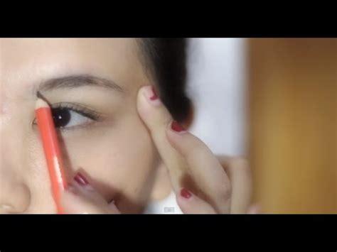 membuat alis youtube cara menggambar alis pensil alis eyebrow powder