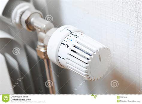 Radiator Knob by Temperature Knob Of Heating Radiator Stock Photo Image