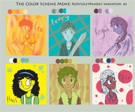 Heroes Of Olympus Memes - color scheme meme heroes of olympus style by bratitude123 on deviantart