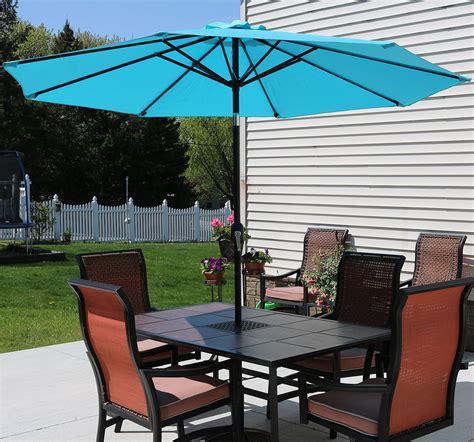 Sunnydaze Aluminum 9 Foot Patio Umbrella With Tilt Crank Sunnydaze Aluminum 9 Foot Patio Umbrella With Tilt Crank