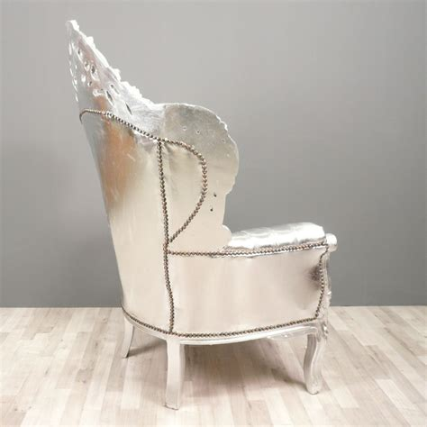 Silver Armchair by Baroque Armchair Silver Baroque