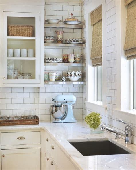 white tile kitchen subway tile